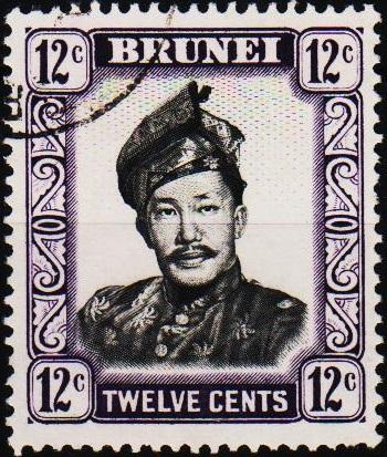 Brunei. 1952 12c. S.G.125 Fine Used