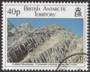 British Antarctic Territory 1995 used Sc #233 40p Colbert Mountains