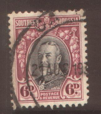 Southern Rhodesia 6d perf 12 SG20 used