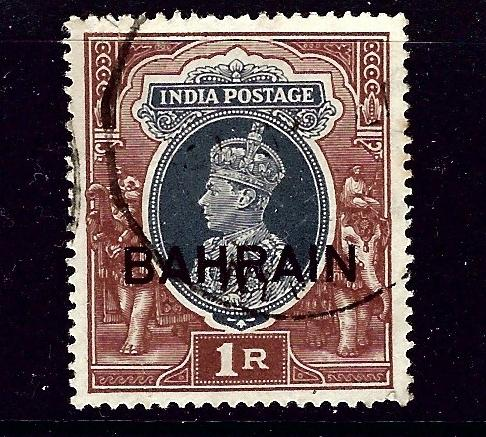 Bahrain 32 Used 1938 KGVI overprint issue
