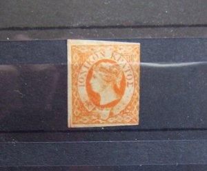 Ionian Islands QV 1/2d orange MNG