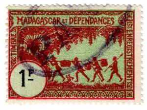 (I.B) France Colonial Revenue : Madagascar Duty 1Fr