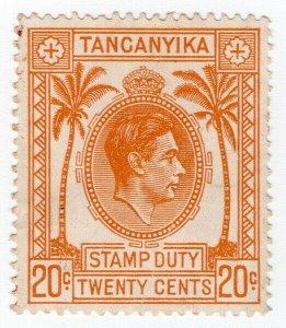 (I.B) KUT Revenue : Tanganyika Stamp Duty 20c