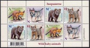 BELARUS 2020 WILD ANIMALS BABY ANIMAUX SAUVAGES WILDE TIERE SHEET [#2001SH]