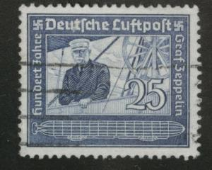 Germany Scott C59 Used 1938 Zeppelin airmail stamp