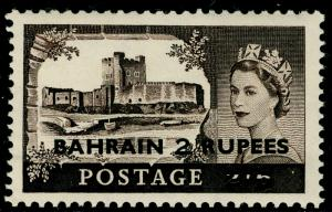 BAHRAIN SG94a, 2r on 2s6d black-brown, LH MINT. Cat £14.