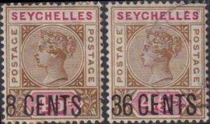 Seychelles 1896 SC 27-28 Used Set