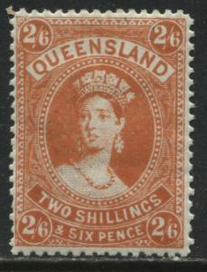 Queensland QV 1882 2/6d orange mint o.g.