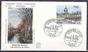 France, Scott cat. 1584. Painting by B. Buffet issue. First day cover. ^