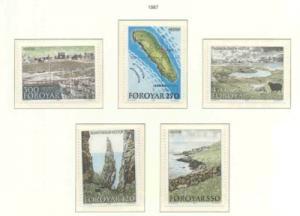 Faroe Islands Sc 161-5 1987 Hestur Island set NH