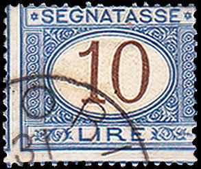 Italy Scott J19 Used with paper adhesion.