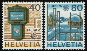 Switzerland 675-76  MNH - Europa Mailbox Radio Relay Station (1979)