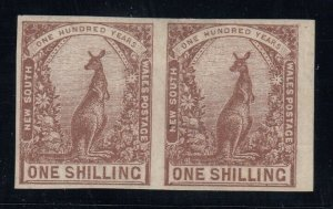 New South Wales, SG 312a, MHR Imperforate Pair variety