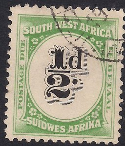 South West Africa 1931 KGV 1/2d Postage Due used  SG D47 ( K911 )
