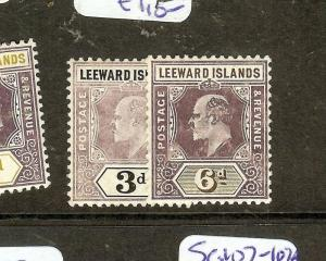 LEEWARD ISLANDS   (P1603B) KE   SG33A, 34     MOG
