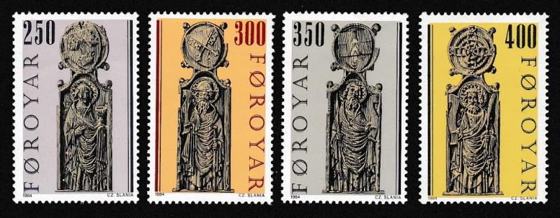 Faroe Is. Pews of Kirkjubour Church issue 1984 4v 2nd series SG#90-93 SC#102-105