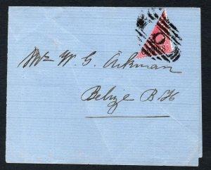 British Honduras 1888 QV 2c bisected SG 37a CV £110