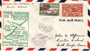 1940, 1st Flt. Noumea, New Caledonia to Canton Islands, See Remark (32597)