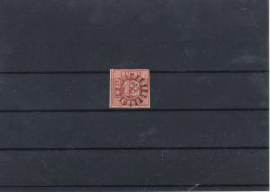 Balvaria 1850-62 12k Red Used Stamp CAT£225 Ref: R7516