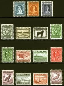 Newfoundland 1932-44 VF Most *MNH* 15 items