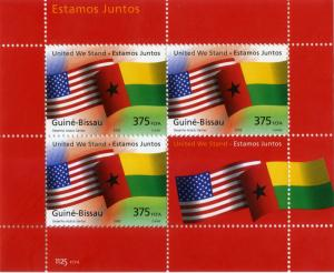GUINEA-BISSAU MNH S/S SCV UNLISTED BIN $6.50 FLAGS