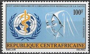 Central African Republic  C110  MNH  UN WHO 25th Anniversary