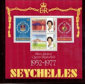 Seychelles SC# 380-7a  QEII Jubilee set  and S/S MNH