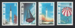 Ascension Space American Manned Flight 4v 1987 MNH SG#428-431