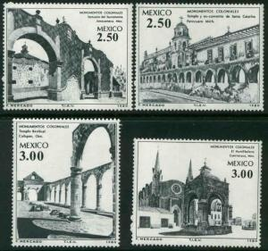 MEXICO 1211-1214 Colonial Buildings and Monuments MINT, NH. F-VF.