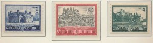Poland, German Occupation Stamps Scott #N73 To N75, Mint Hinged - Free U.S. S...