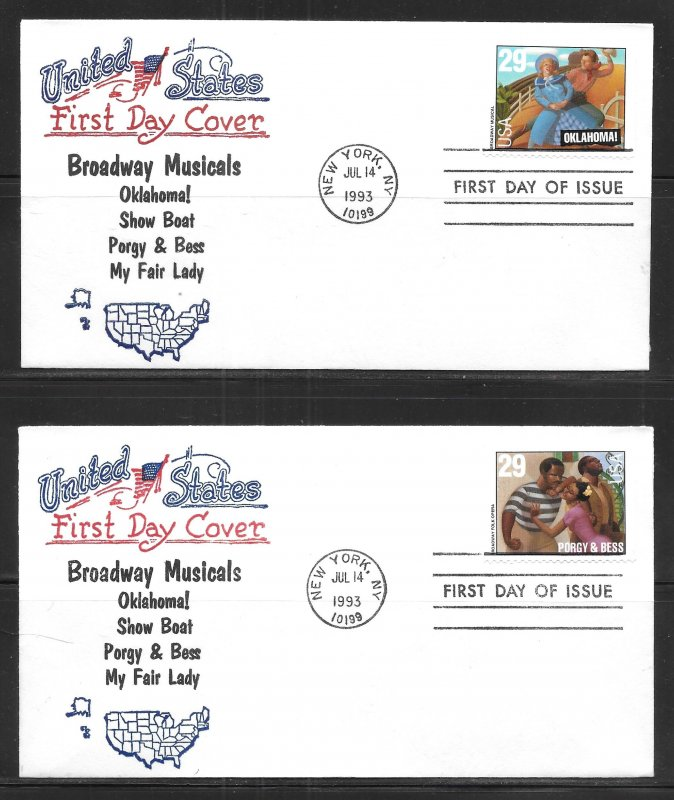 United States 2766-70 Broadway Musicals First Day Cover FDC (z5)