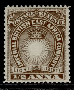 BRITISH EAST AFRICA QV SG4, ½a dull brown, M MINT.