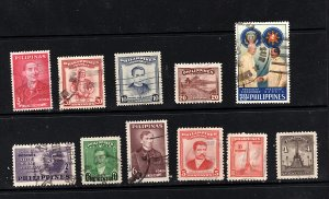 Phillipines  nice assortment of 11 different   used