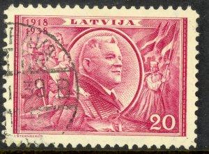 LATVIA 1938 20s President Ulmanis Pictorial Sc 203 VFU
