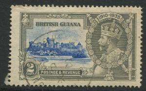 STAMP STATION PERTH British Guiana #223 - Silver Jubilee Issue Used  CV$0.25