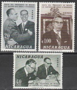 Nicaragua #C631-3  MNH  (S6661)