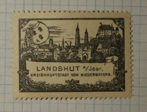 Landshut District Capital Bavarian Caholic Cogress 1897 WW Charity Seal Stamp