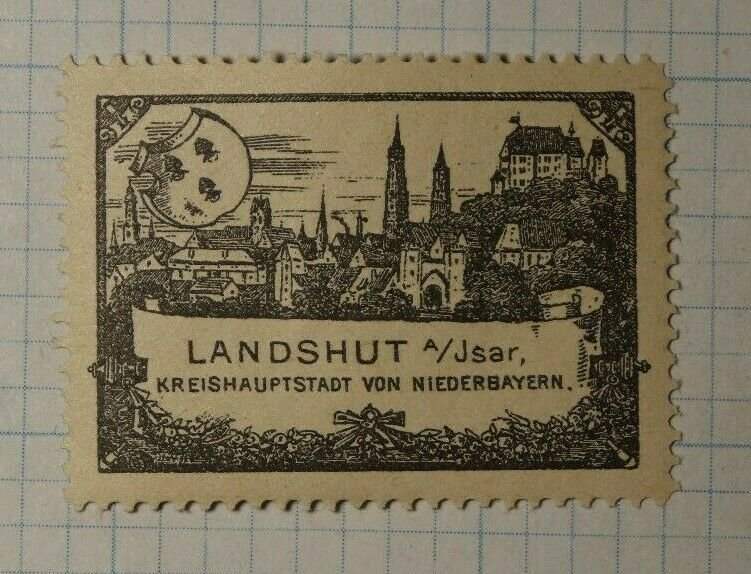 Landshut District Capital Bavarian Caholic Cogress 1897 WW Charity Seal Stamp