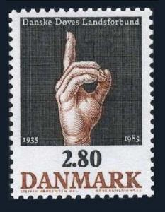 Denmark 786,MNH.Michel 850. Danish Association of the Deaf,50th Ann.1985.