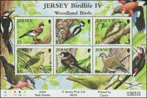 Jersey 2010 Sc 1434a Birds Jay Tit Woodpecker Treecreeper Dove CV $10