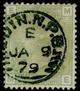 SG153, 4d sage-green PLATE 16, FINE USED, CDS. Cat £300. ME