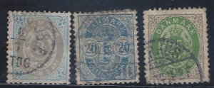DENMARK #41,48A,50 USED  SCV $31.50 STARTS @25% OF CAT VALUE