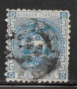 Ecuador 9: 1/2r Coat of Arms, used, F
