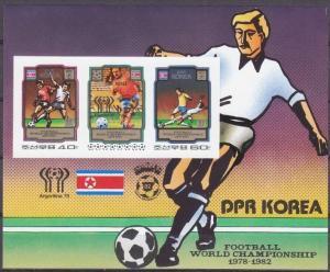 1980 Korea, North 2035-36/B79b 1982 World championship on football of Spain 20,0