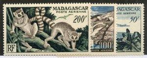 Madagascar, Scott #C58-60, Mint, Never Hinged