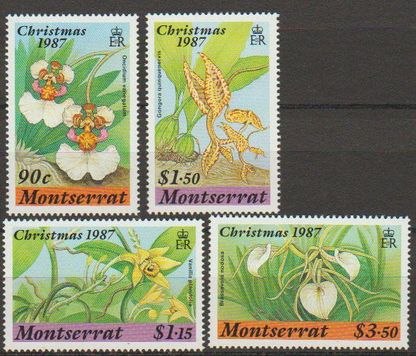 Montserrat SG 734 - 737 set of 4  MVLH - various surch -F...