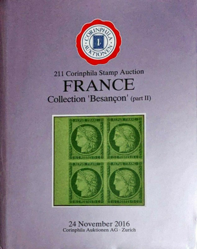 Auction Catalogue FRANCE Collection BESANÇON Classic Stamps and Postal History