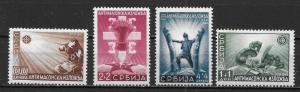 Serbia German Occupation 2NB15-18 Anti-Masonic Propaganda set NH