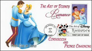 AO-4026-1, 2006, The Art of Disney, Add-on Cover, First Day Cover, DCP, Cinderel