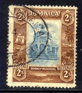 Jamaica 1921 - 29 KGV 2/-d Spanish Town Rodney Memorial used SG 103 ( L883 )